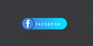 facebook logo on grey background
