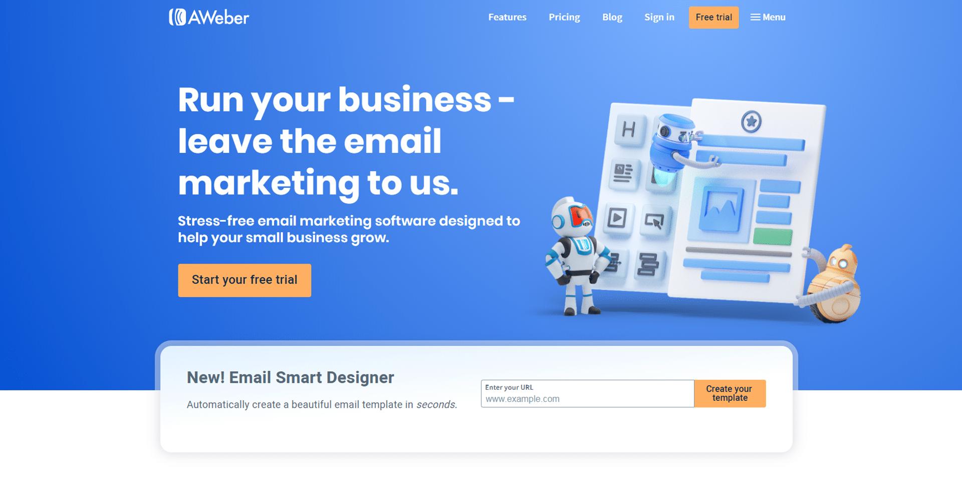 email marketing tools - aweber