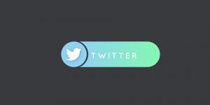 twitter logo on grey background