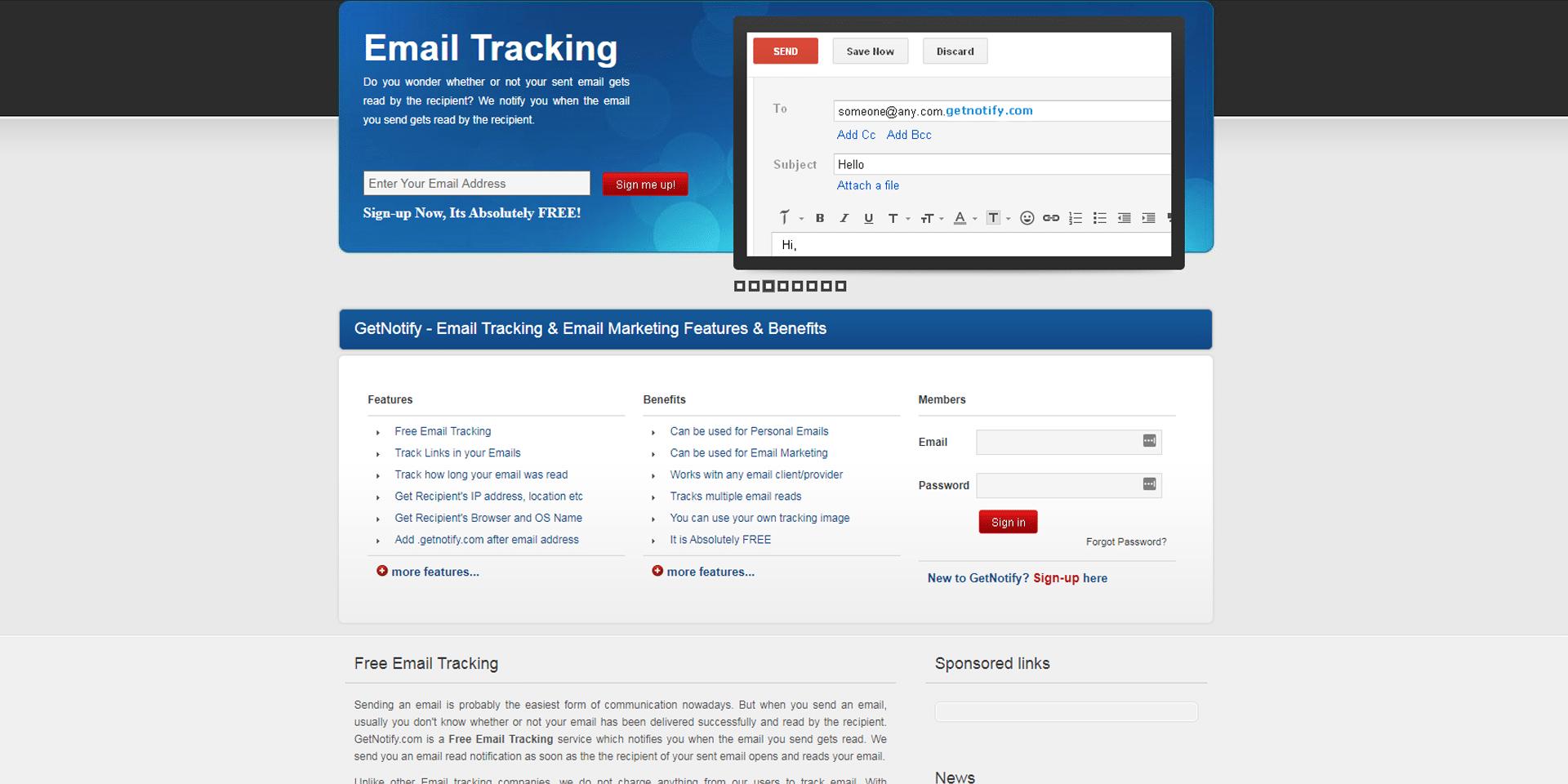 email marketing tools - getnotify
