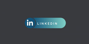 linkedin logo on grey background