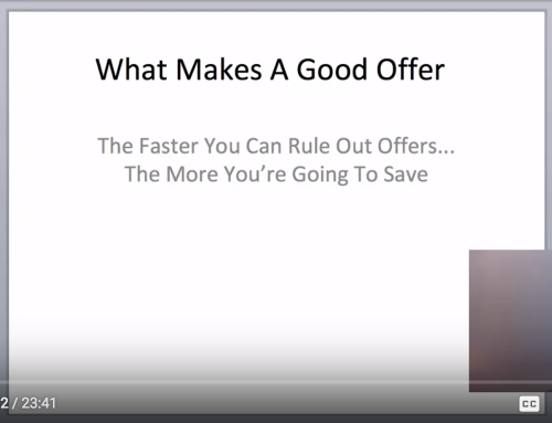 Finding A Good Offer (Training Video)