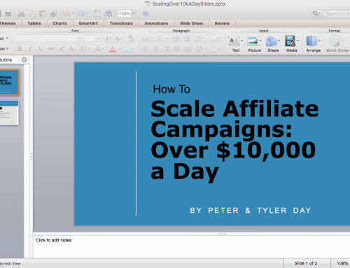 How To Scale Affiliate Campaigns Over $10,000 A Day